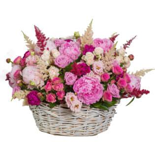 Цветы в корзинке «Безупречность»