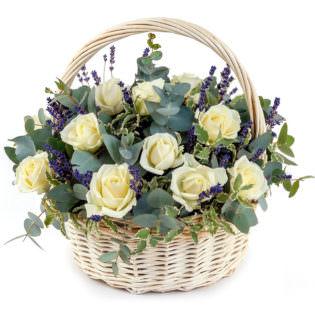 Цветы в корзинке «Нежность»